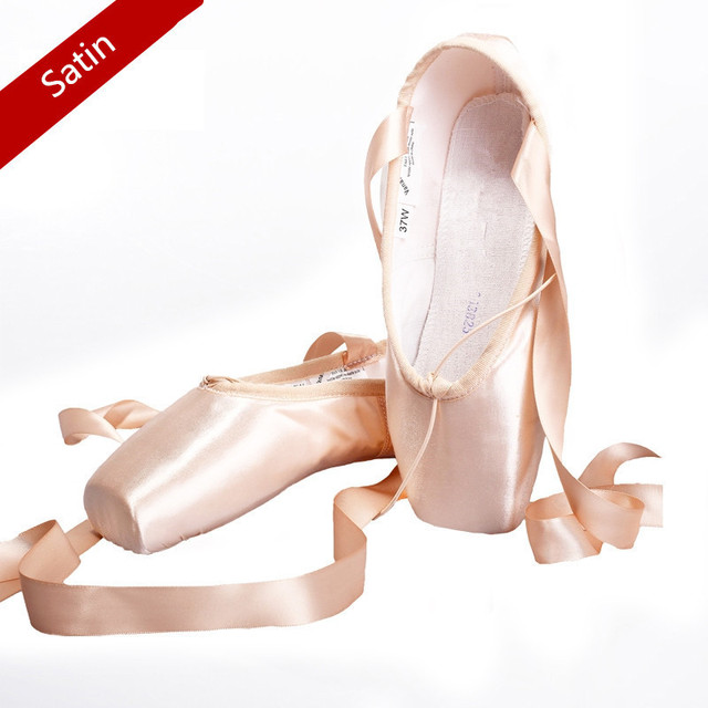 New High quality ladies Professional satin Ballet Pointe Dance Shoes With Ribbons XC-4021