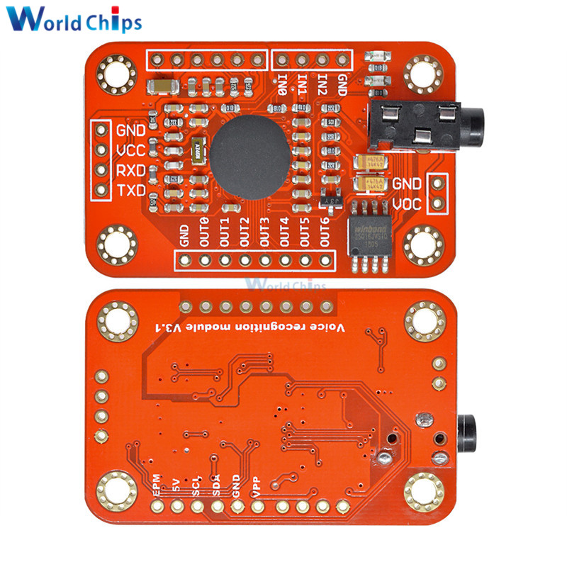 Image 5 - Speed Recognition Voice Recognition Module V3 Compatible with for Arduino Support 80 Kinds of Voice DC 4.4  5.5 V High Accuracy-in Integrated Circuits from Electronic Components & Supplies