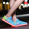 2016 New Led Shoes Plus Size 35-44 Unisex Shoes Flat With Light Glowing Fashion Light Up Shoes Superstar Original Casual Shoes