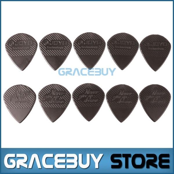 JOYO Non-slip Black Guitar Picks For Electric/ Acoustic Guitar/ Bass/ Folk Plastic Steel Material Anti Wear Durability Plectrum