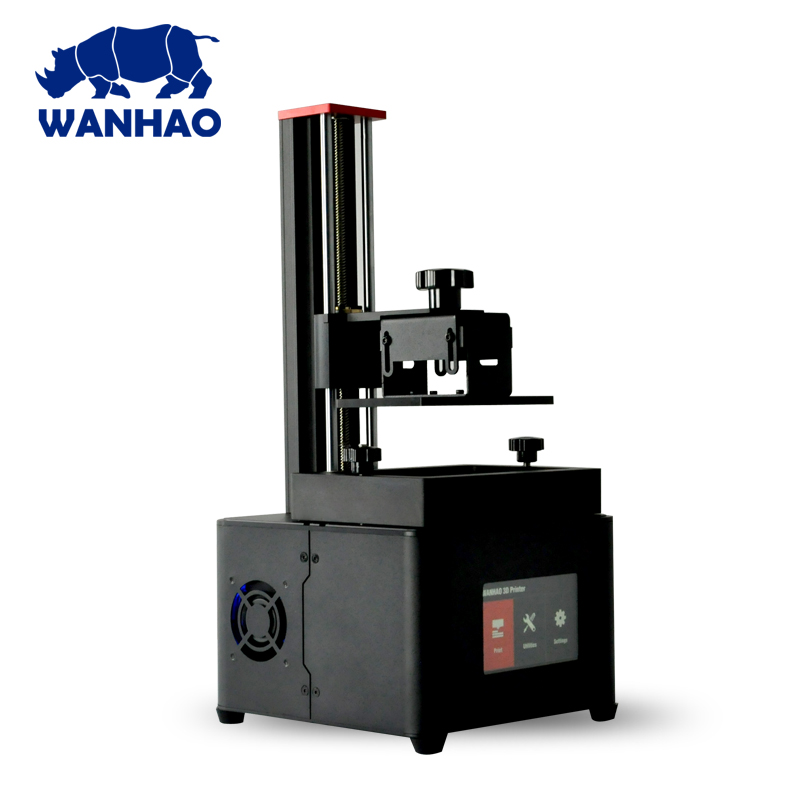 Wanhao Duplicator 7 PLUS LCD Touch Screen UV Resin SLA DLP 3D Printer Machine, Wanhao D7 Jewelry Dental 3D Printer,Free Shipping 3d printer d7 v1 4 from wanhao factory lcd sla dlp printer for dentist and jewelry wifi box