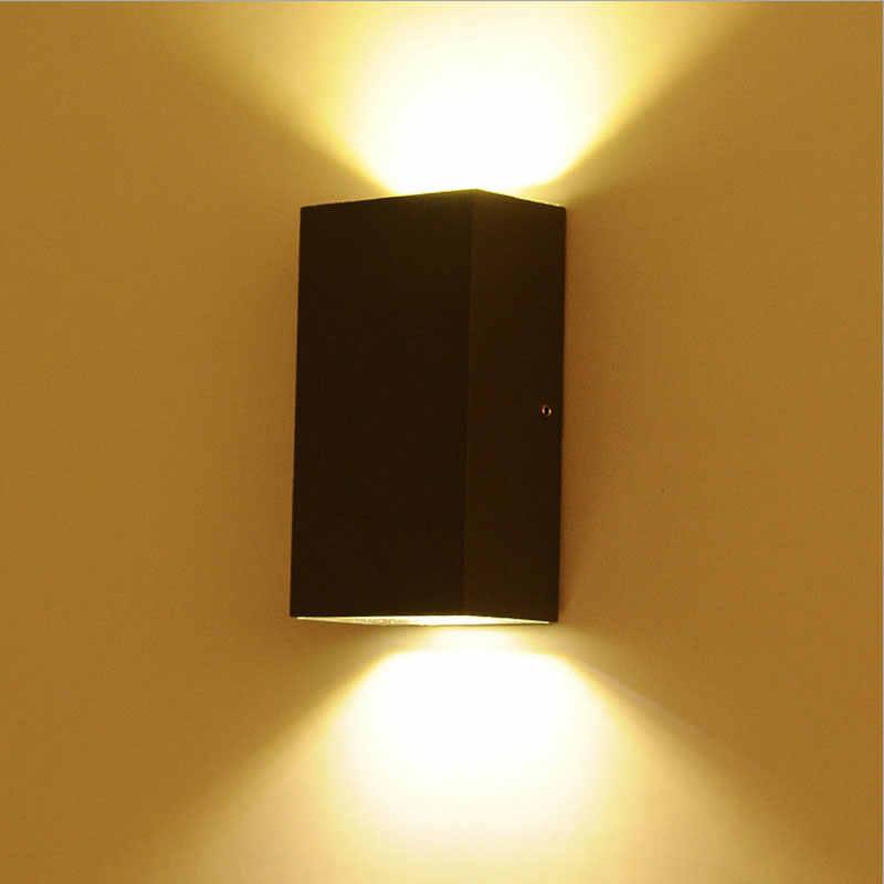 Алюминиевый открытый водостойкий настенный светильник светодио дный двор шлюз жилой eclairage exterieur коридор фурнитура для садового светильника
