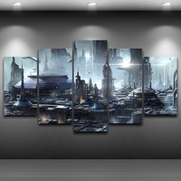 Artistic Canvas Print Painting Modern City Framed HD Printed Oil Painting Bedroom Wall art up Drawing room wall decor AE0015