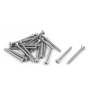 20pcs DIN7991 M3x35mm Hex Screws 316 Stainless Steel Flat Head Hex Socket Cap Screw Bolt Fully Thread 2mm / 0.08 inch(China)