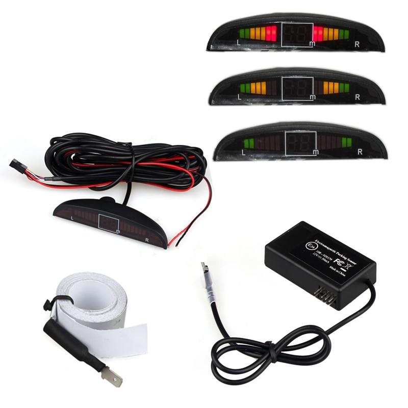 Eletromagnética Auto Invertendo Radar Sensor de Estacionamento com Led Buzzer BIBI alarme geral appearan Ceconcealed Instalação