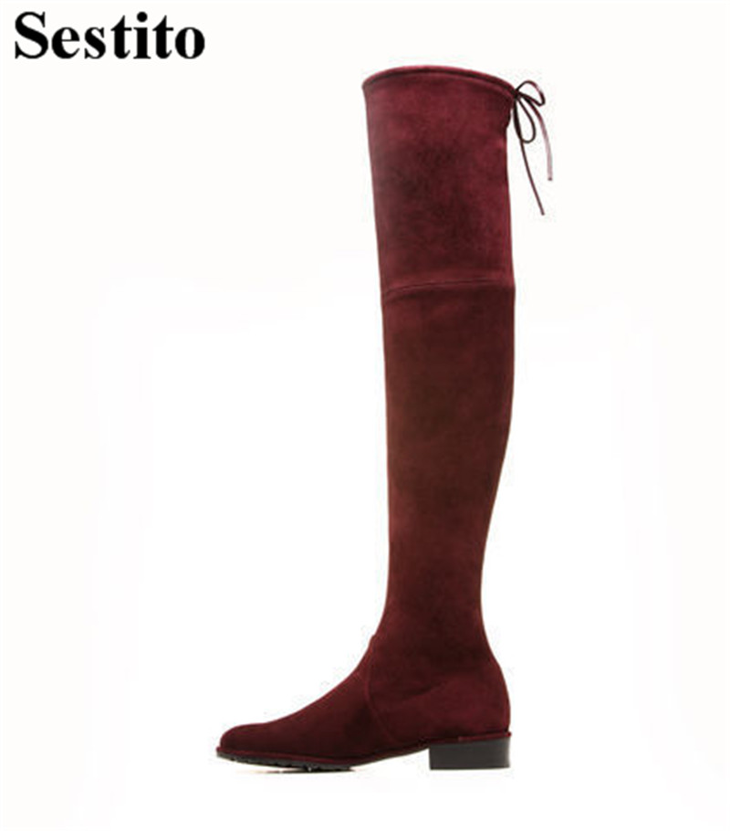 Leisure Black Butterfly-knot Woman Boots Round Toe Square Heel Over-the-Knee Boots Women Slip-on Long Boots Autumn Women ShoesLeisure Black Butterfly-knot Woman Boots Round Toe Square Heel Over-the-Knee Boots Women Slip-on Long Boots Autumn Women Shoes