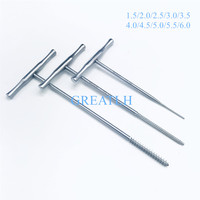 1pcs Stainless steel T handle Bone Taps Orthopedics Veterinary instrument