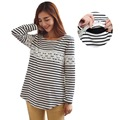 Winter Warm Nursing Top Shirt Clothes for Pregnant Women Long-sleeved Maternity T-shirts Breastfeeding Tops Clothing for Feeding