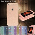 1 brilhante Glitter Full Body adesivos para iPhone 5 5S filme de diamante espumante decalques protetor de tela - 12 cores é opcional