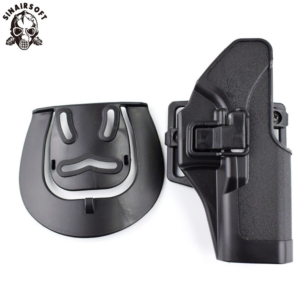 SINAIRSOFT Tactical Pistol Belt Holster Accessories Gun Case Right Hand For Glock 17 19 22 23 31 32 Airsoft Hunting Holsters image