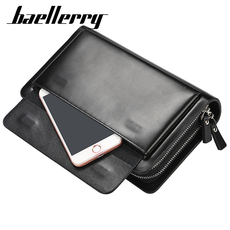 Image 5 - 2020 High Quality Men Clutch Wallets Large Capacity Business Men Wallets Cell Phone Pocket Passcard Pocket Wallet For MenWallets   -
