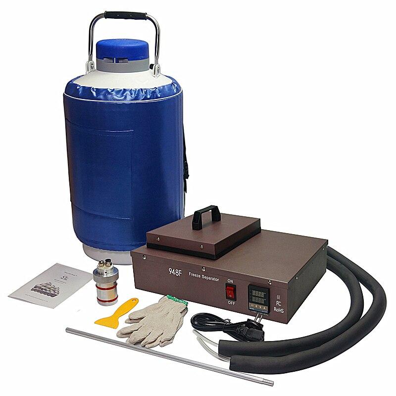 2 dans 1 pack liquide d'azote congelés lcd Séparateur FS06 avec 10L réservoir d'azote liquide