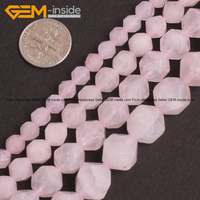 Faceted Natural Pink Rose Quartz Crystal Beads For Jewelry Making 6 12mm 15inches DIY Jewellery FreeShipping