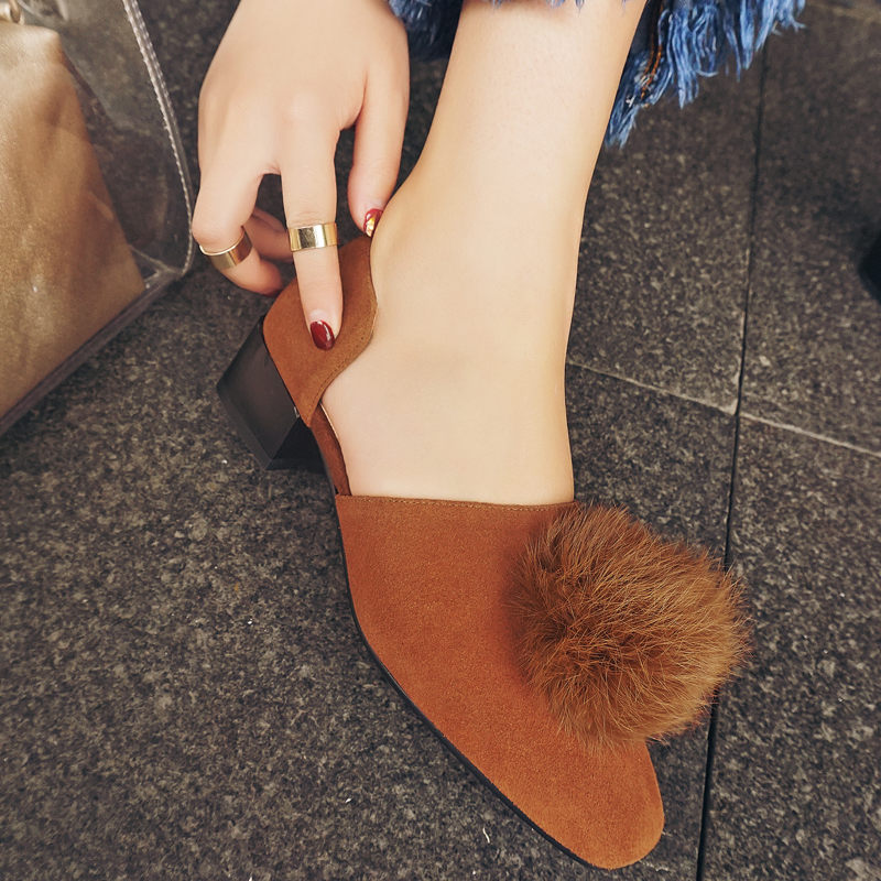 Krazing Pot New fashion brand shoes slip on square toe cow suede thick heel shallow women pumps luxury sweet office lady shoe 96 2017 new fashion brand spring shoes large size crystal pointed toe kid suede thick heel women pumps party sweet office lady shoe