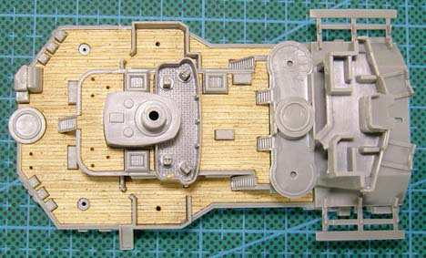 ARTWOX's 05040 German battleship Bismarck wood deck AW10007 цена