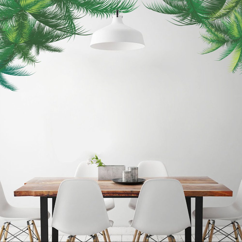 Green Plants Wall Decor Greenery Wall Stickers for Drawing ... on Wall Sconces For Greenery Decoration id=86355