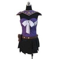2017 anime costumes Fairy tail Natsu Lucy Heartfilia cosplay costume purple version