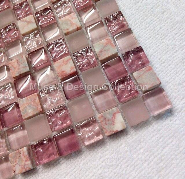 Achat Rotem Marmor Lavendel Lila Rosa Kristall Glas Mosaik Fliesen Für  Kamin Wand Boden Fliesen Küche Backsplash Badezimmer Ecor