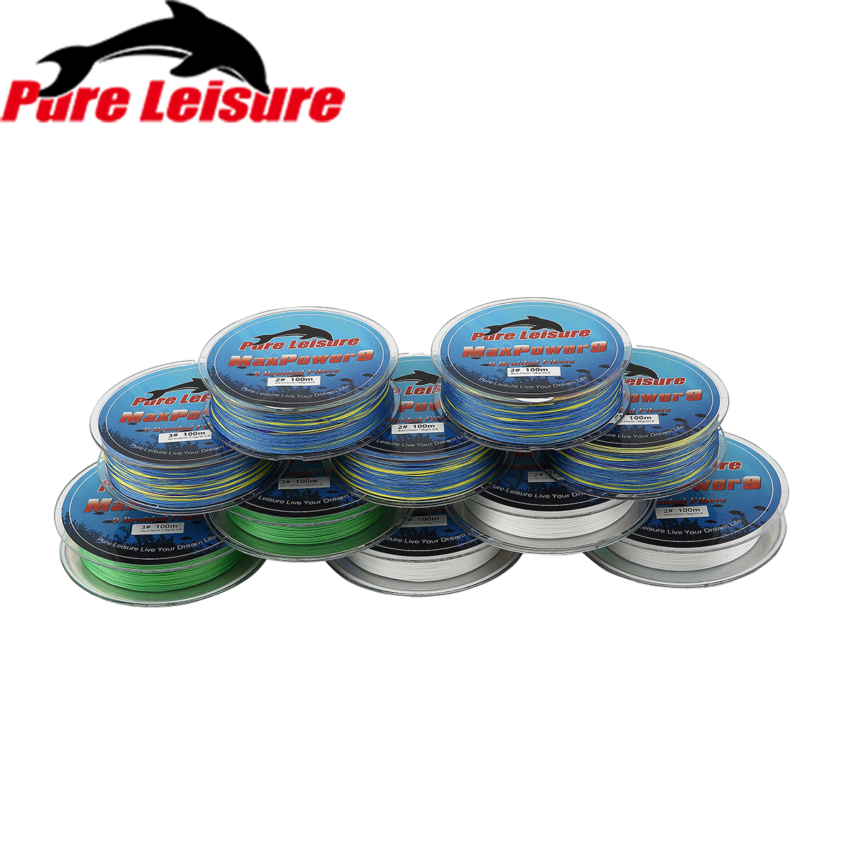 PureLeisure Braid Fishing 9 Stands 100M Multifilament PE Braided Fishing Line 100m X9 Tresse Peche for Carp Fishing Steel Wire