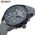 2016 nuevo diseño genuino de la marca curren reloj militar hombres cool fashion de cuero deporte masculino regalo de cuarzo reloj del negocio 8187