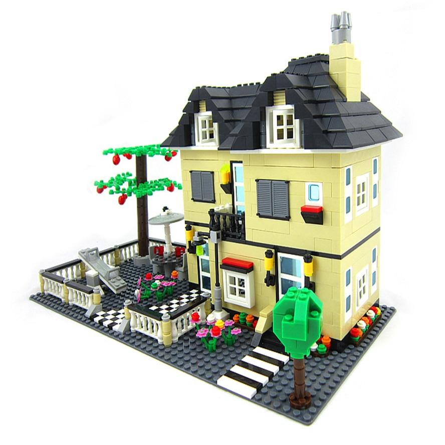 WANGE 34053 816Pcs City Villa Large Garden House Building Blocks Brick Compatible LegoIN Technic Playmobil Toys