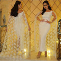 Арабский Дизайн С Плеча С Коротким Рукавом Голеностопного Длина Страна Свадебные Платья с Мыса