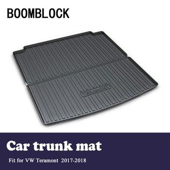 BOOMBLOCK Car Interior Accessories Non-slip Dustproof Trunk Special Floor Foot Mat For Volkswagen VW Teramont 2018 2017