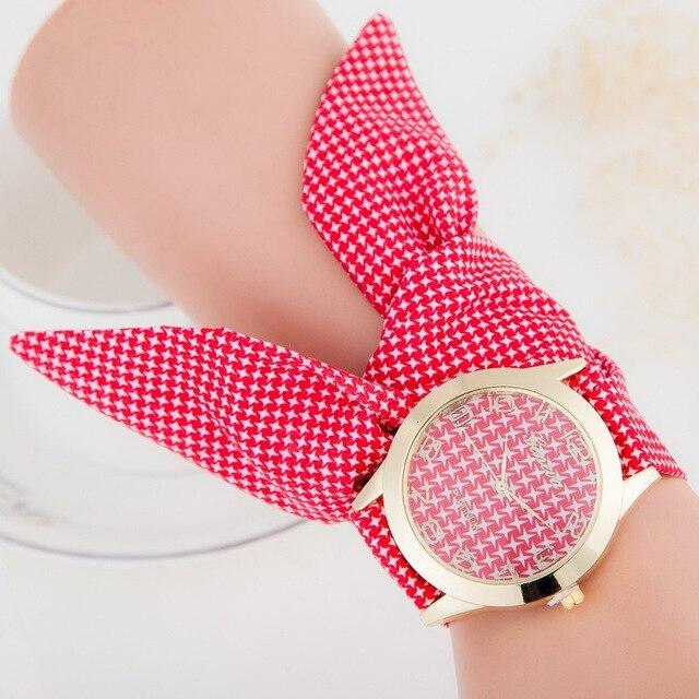 Tela de colores Moda Casual Mujer Relojes de pulsera de Cuarzo Analógico  Relogio Feminino Regalos para 88b585ef20db