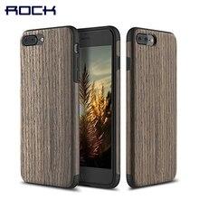 ROCK Оригинальный Деревянный Чехол для iPhone 7 7 Плюс Зернистой Древесины Чехол для iPhone7 крышка