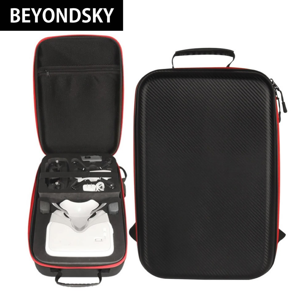 DJI Spark Drone and dji VR Flying Glasses Combination Backpack PU Leather Advanced Standards Protection Quadcopter Storage Case