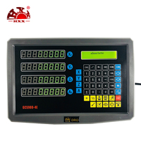 new set/kit 4 axis dro digital readout display with 4 pcs 5u glass ruler linear scale/sensor/encoder for milling/lathe/grinding