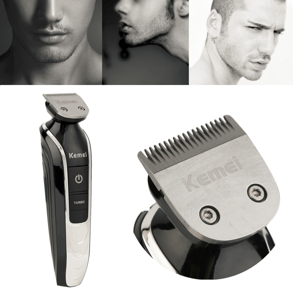 1 set Hair Clipper Razor Kemei 5 in 1 Electric Beard Cutter 360 Degree Hair Clipper Trimmer Shaving Haircut Tool yuho yh 638 15w electric pet hair clipper set for dogs black silver