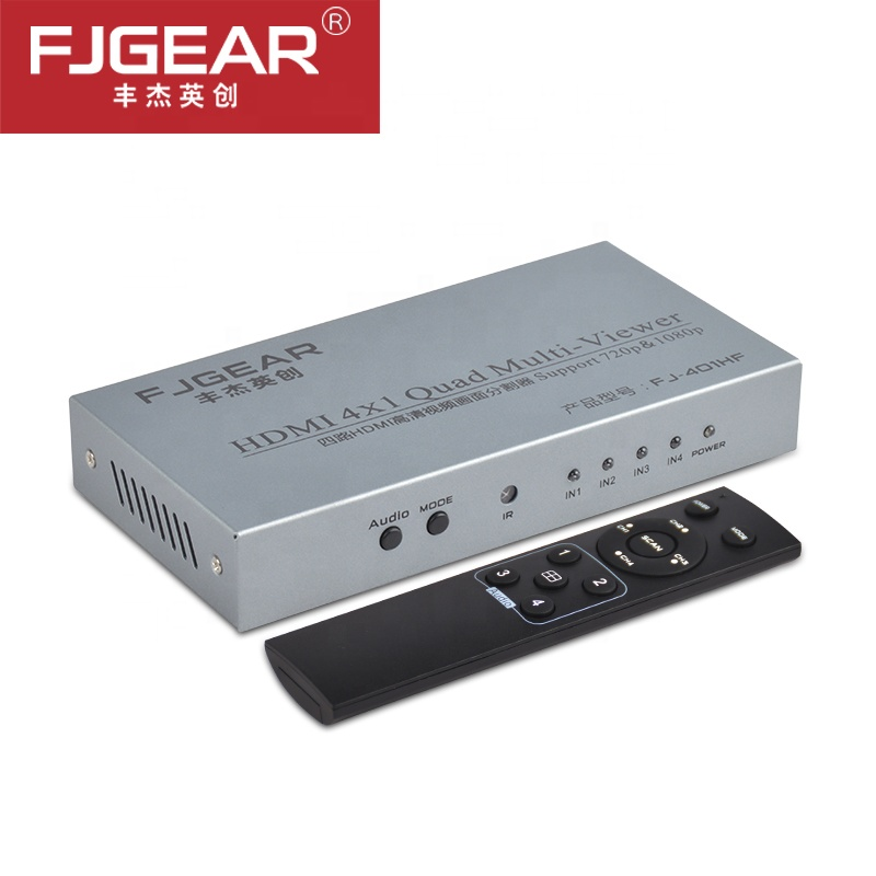 HDMI Multi-Viewer 4x1  HDMI Quad Screen Real Time Multi-Viewer HDMI Splitter Seamless Switcher With IR Control