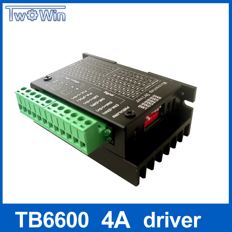 TB6600 stepper motor Driver Controller 4A 9~42V TTL 16 NEW upgraded version of the 42/57/86 stepper motor Micro-Step CNC 1 Axis 4a integrated stepper motor controller pc control single axis 42 57 stepping motor driver cnc