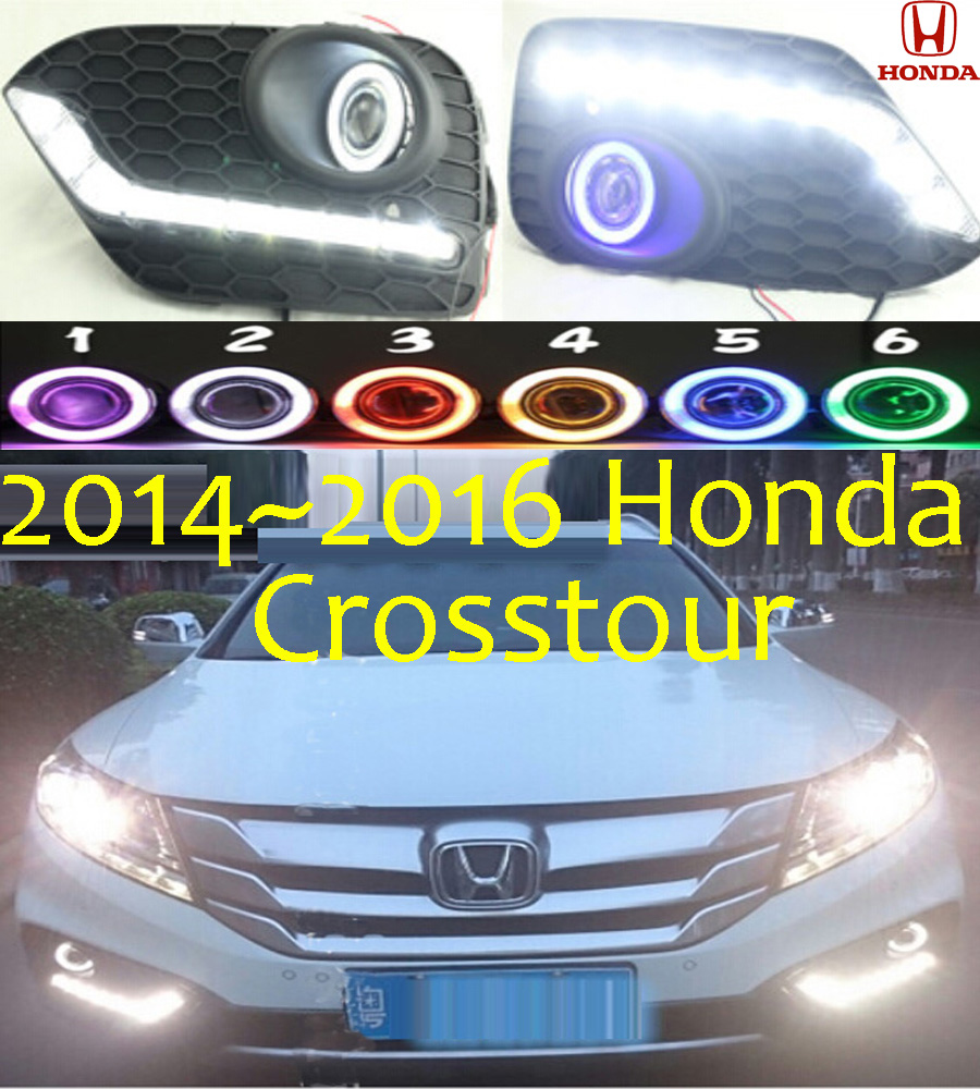 Car styling crosstour led fog lamp 2014 2016 chrome led
