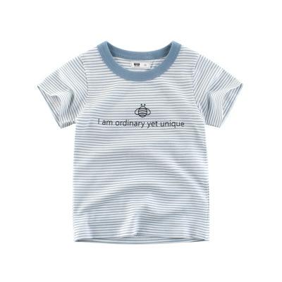 Loozykit/Летняя детская футболка для мальчиков футболки с короткими рукавами и принтом короны для маленьких девочек хлопковая детская футболка футболки с круглым вырезом, одежда для мальчиков - Цвет: Style 17
