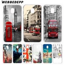 WEBBEDEPP London style Big Ben Telephone Box flag Case for Galaxy J1 J2 Ace J3 J5 J7(2015/2016/2017/Prime) EU US Version