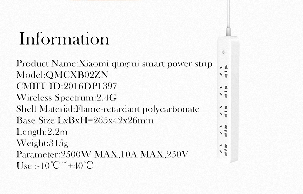 Original Xiaomi Qingmi Smart Home Power Strip 35 Ports 3 USB Fast Charging5 Jacks Extension Socket Plug WiFi Mijia APP Remote (20)