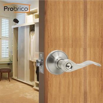 Probrico klamka cylinder blokujący przedni tył dźwignia zatrzask kluczowany podobnie jak zamek wejściowy bezpieczeństwo w domu wewnętrznego drzwiowego zamka z 3 kluczami