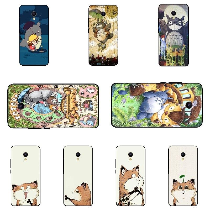 Черный силиконовый чехол для Meizu m5s мини телефон чехол для Meizu m5s В виде ракушки для meilan 5S ультра тонкий забавные кошка узор Fundas кожи