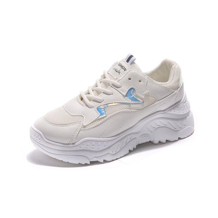 d5f3e6a6 Zapatos blanco Estudiante Coreana Salvaje Moda caqui Aumentar Mujeres  Casuales Harajuku Nueva Azul Las Deporte De ...