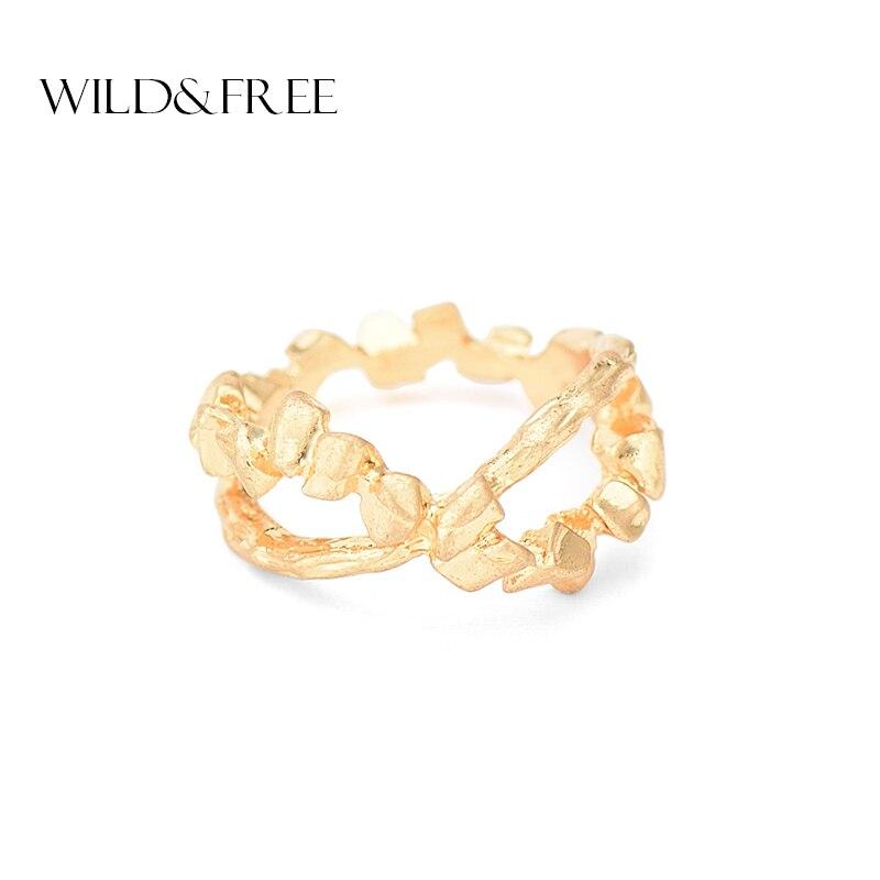 БЕСПЛАТНИ и БЕСПЛАТНИ Винтаге златни криж Кс обруч за жене за жене Винтаге сребрни боемски Миди прстен накит