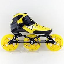 Для взрослых для мальчиков и девочек скейт колеса коньки zodor Профессиональные роликовые коньки 3×110 мм роликовые коньки специальные игры