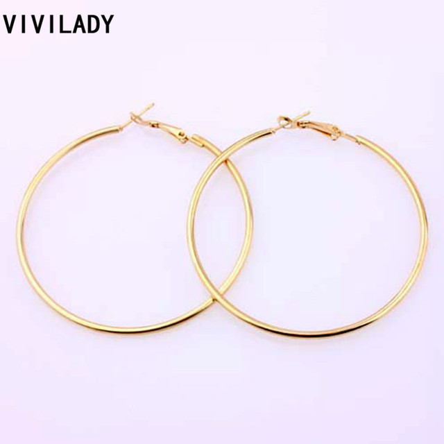 Vivilady Fashion 12pairs Lot Nickel Gold Color Hoop Earrings Loop Celebrity Brand African Jewelry Women Accessory Gift