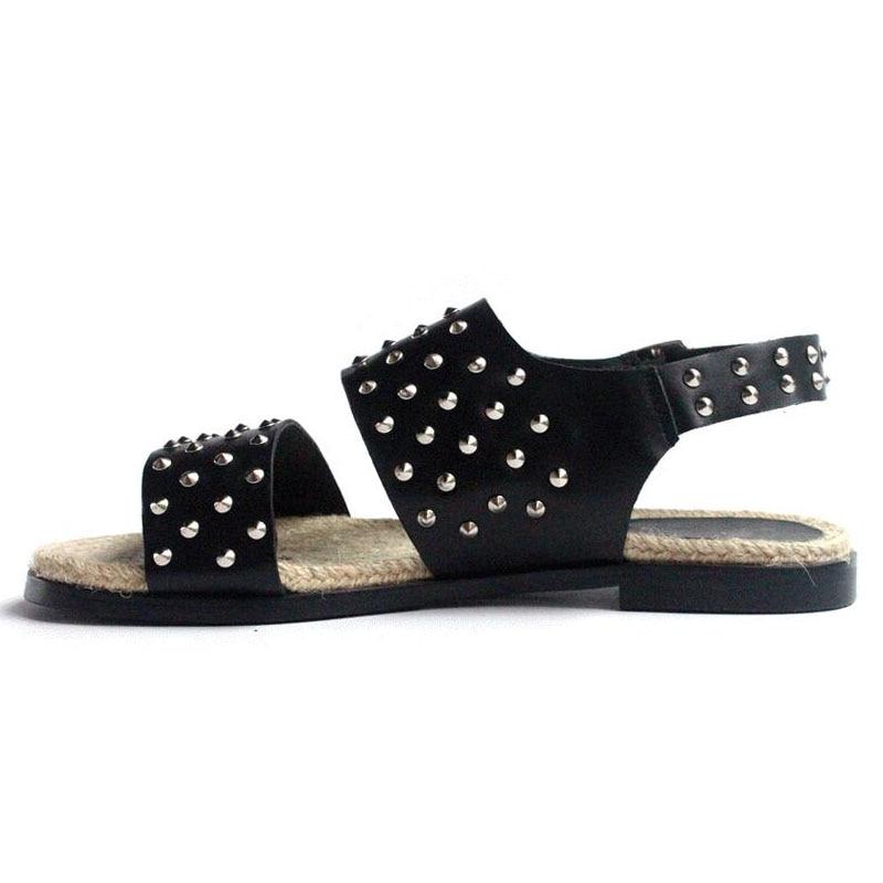 Casual Herren Designer Offene Gladiator Stil England Schuhe Model Spitze Sommer Leder Niet Mann Hausschuhe Atmungs Strand Echt Sandalen UqxwH6