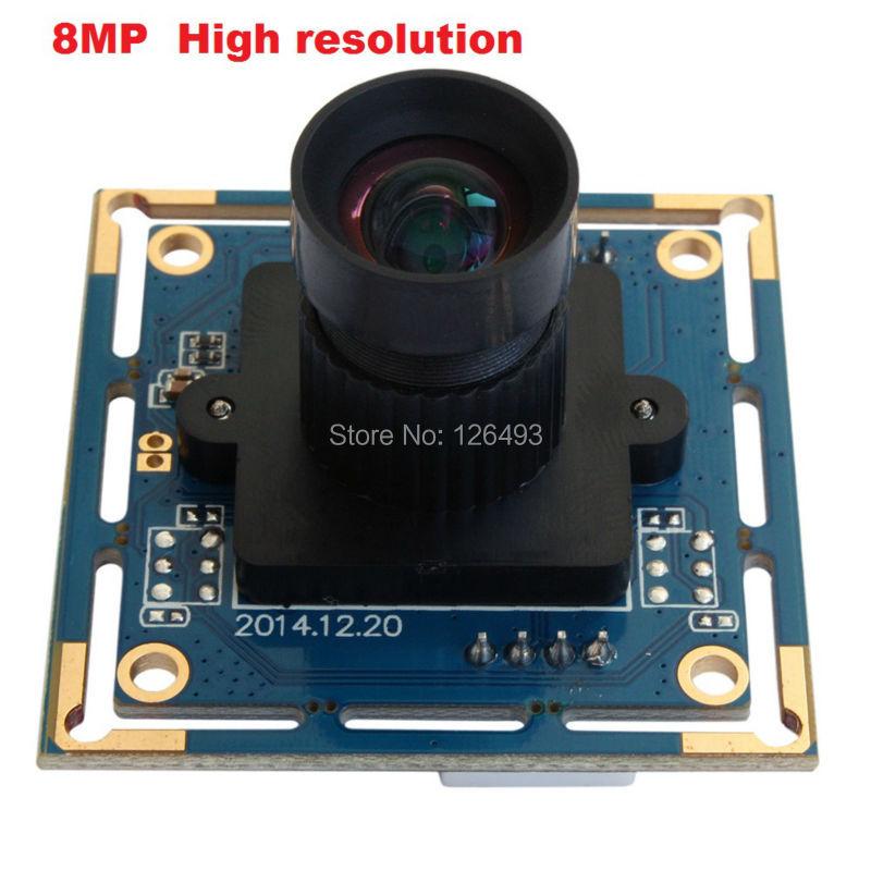 ФОТО ELP 8 megapixels high resolution Best small sony IMX179  8MP Webcam USB Camera HD with 16mm long focal length lens