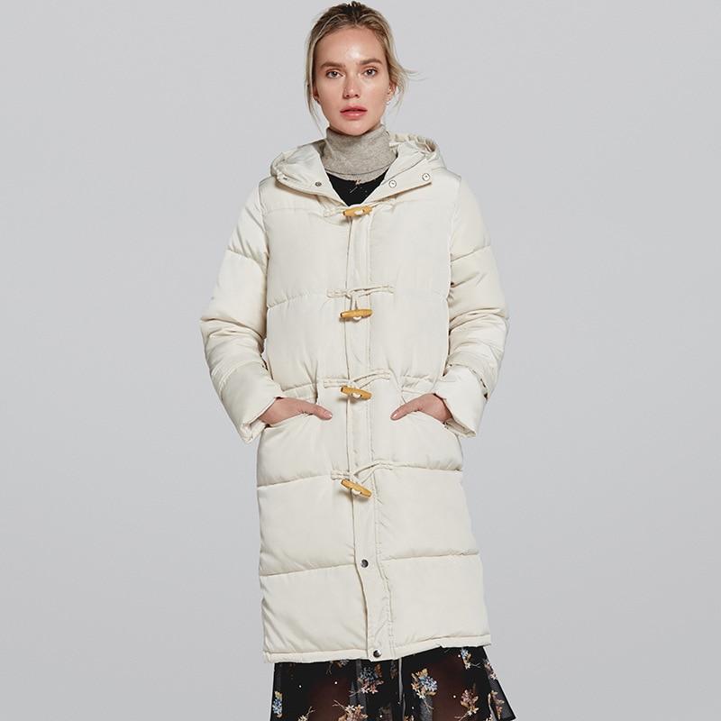 Johnature Women Winter Hooded   Parkas   Plus Cotton Warm Coat 2018 New Loose Solid Color Pockets Casual Button Vintage   Parkas   Coaat