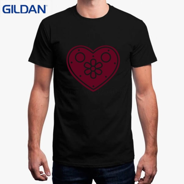 T Shirt 2018 Summer Fashion Camisas Shirt Gingerbread Heart Purple T-Shirt  Designs T Shirt fd0936d12ba3