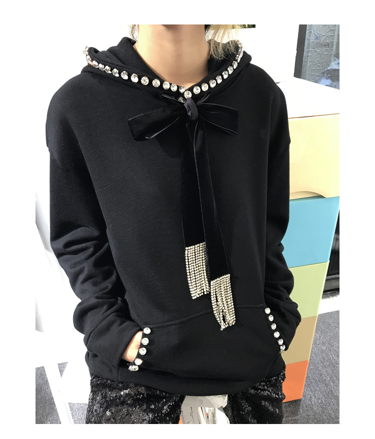 Harajuku 2018 Automne Wang Mode 2225 Hoodies Diamants Streetwear Gland Hiver Ww Pulls Sweat À Capuche Femmes Whitney O5wfnExq5