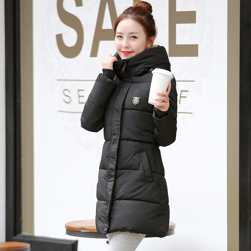 New Fashion Autumn Winter   Parkas   Hooded Girls Coat Jaqueta Feminina Jacket Slim Female   Parkas   Plus Sizes Overcoat Women Outwear